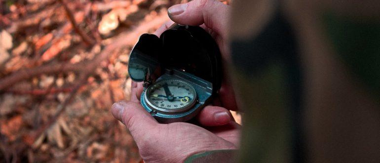 Заблудился с компасом в лесу