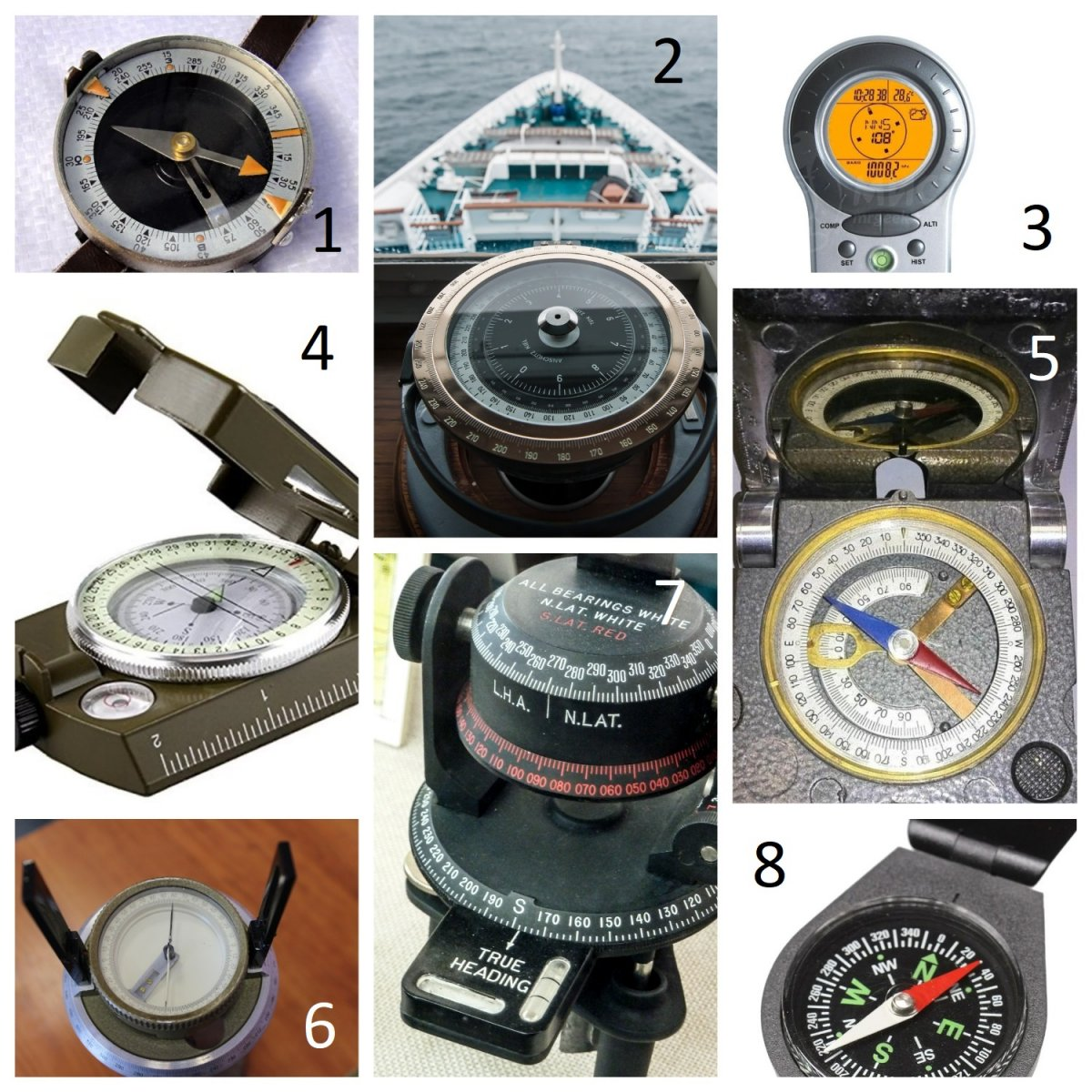 Разные виды компасов